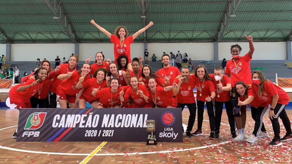 Benfica é campeão nacional de basquetebol feminino (SL Benfica)