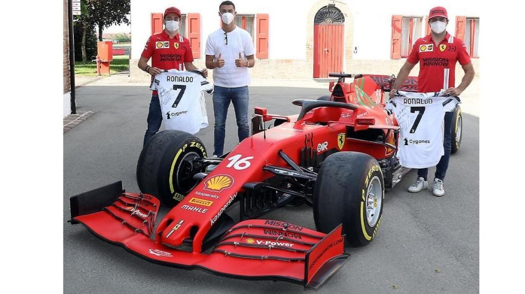 Cristiano Ronaldo Ferrari Formula 1