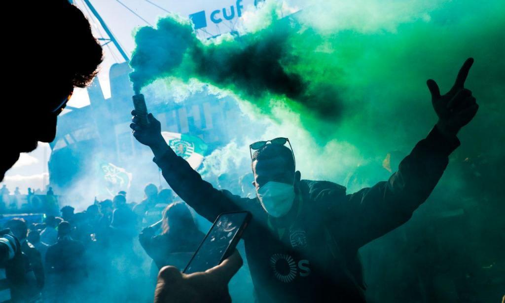 A festa dos adeptos do Sporting em Alvalade