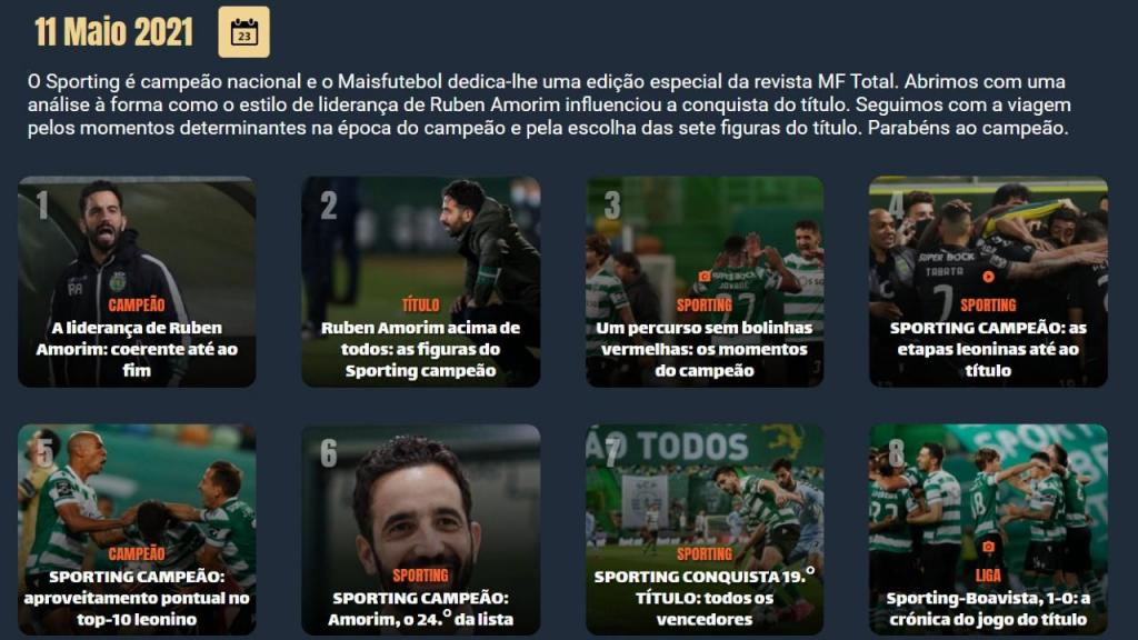 MF Total dedicada ao Sporting