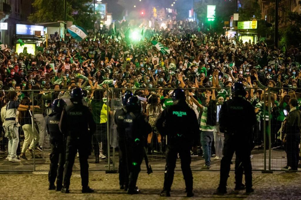 A festa do Sporting (Miguel A. Lopes/Lusa)