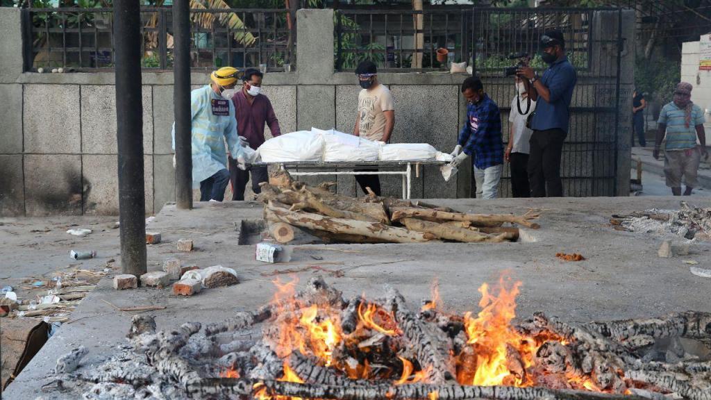 Cremação na Índia