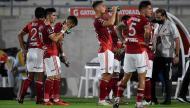 Junior-River Plate (Daniel Munoz/Pool via AP)
