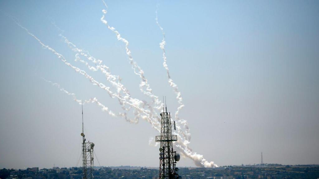 Rockets lançados de Gaza para Israel
