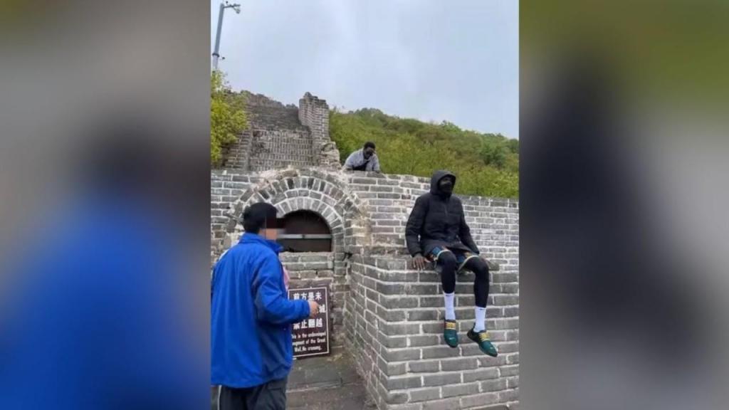 Turistas banidos da Grande Muralha da China