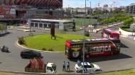A chegada do Benfica ao Estádio da Luz para o dérbi