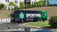 A chegada atípica do Sporting ao Estádio da Luz