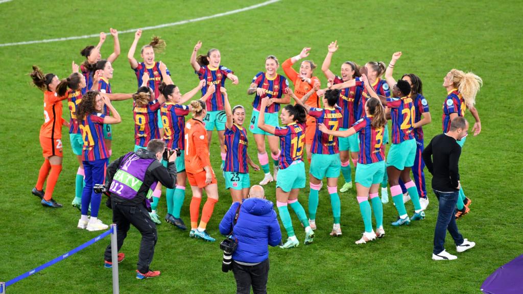 Barcelona celebra conquista da Liga dos Campeões feminina (Martin Meissner/AP)