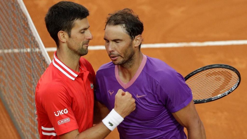 Rafael Nadal e Novak Djokovic (AP Photo/Gregorio Borgia)