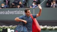 Roger Federer foi eliminado em Genebra (Salvatore Di Nolfi/AP)