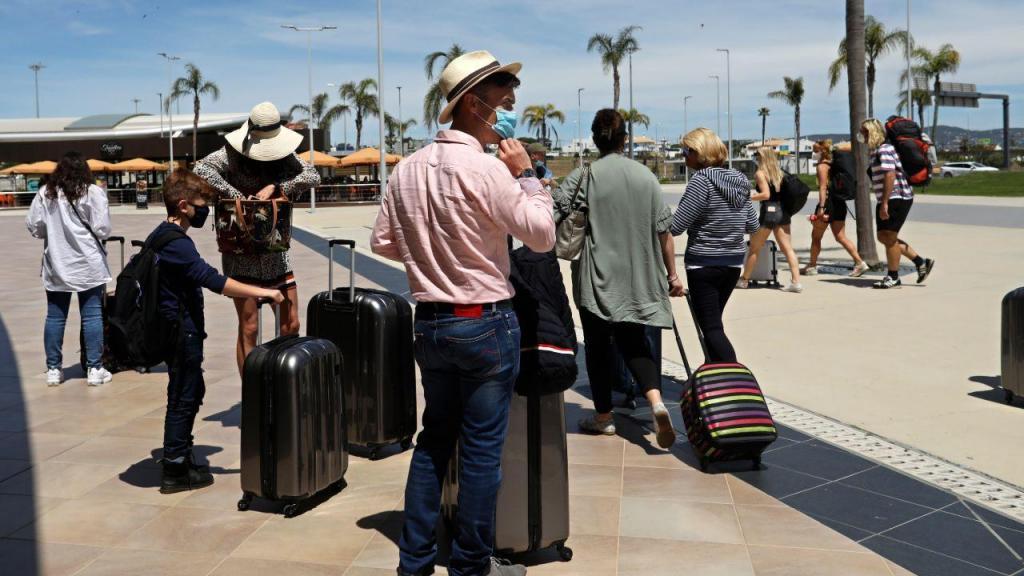 Turistas no Algarve