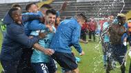 Vizela festeja subida à I Liga (Fernando Veludo/LUSA)