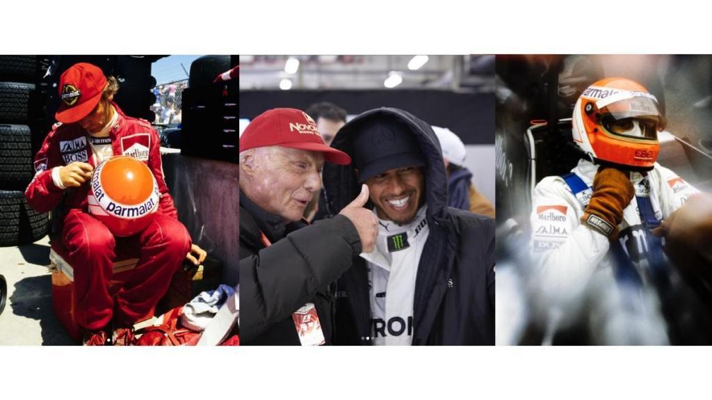 Lewis Hamilton recorda Niki Lauda (imagens: Instagram @lewishamilton)