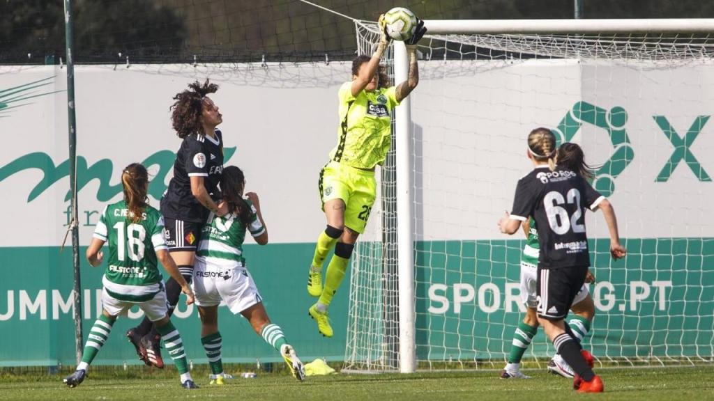 Patrícia Morais no Sporting-Condeixa, época 2020/2021 (Foto: Sporting CP)