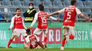 Ricardo Horta festeja o 2-0 no Sp. Braga-Benfica (Lusa)