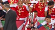 O momento em que o Sp. Braga ergeu a Taça de Portugal