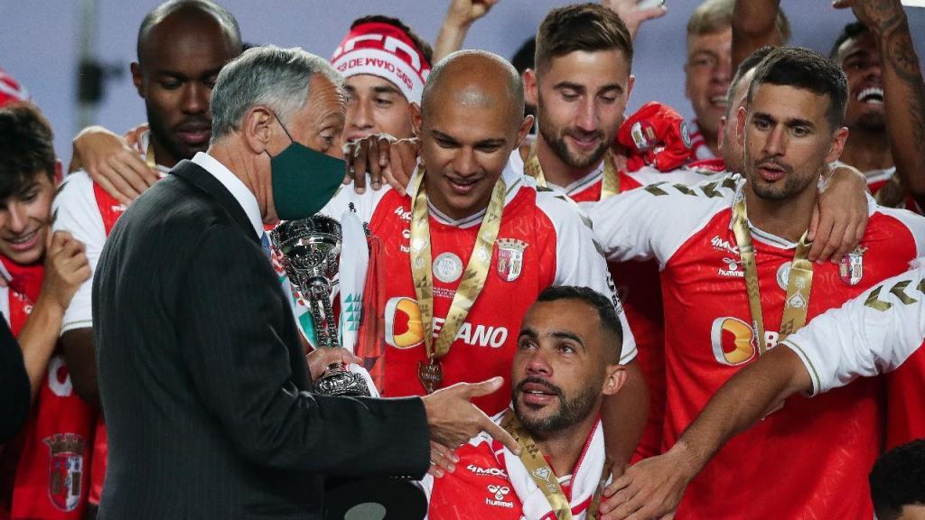 Marcelo Rebelo de Sousa entrega Taça de Portugal ao Sp. Braga (Lusa)
