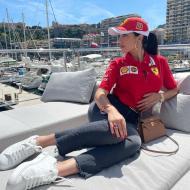 Georgina e Cristianinho no GP Mónaco (instagram)