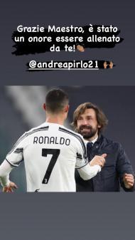 Cristiano Ronaldo deixa mensagem a Pirlo