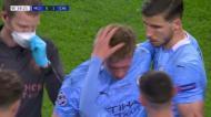 As lágrimas e o olho negro de De Bruyne ao deixar a final da Champions