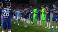 O abraço português na guarda de honra do Chelsea ao Man City