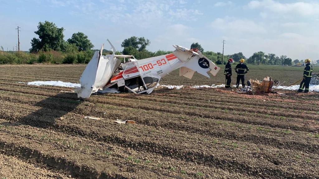 Aeronave que caiu na Azambuja
