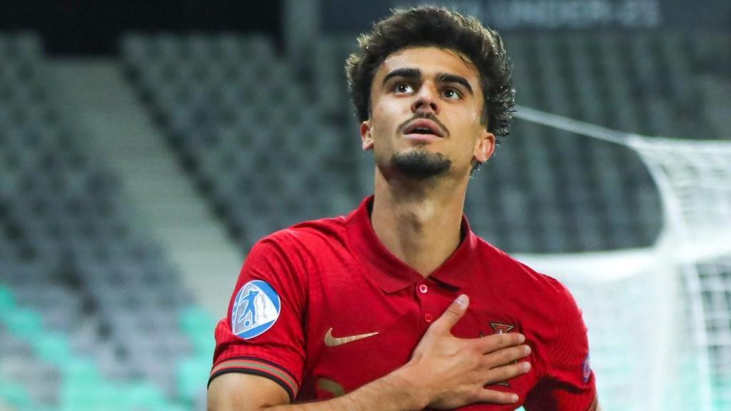 Euro sub-21: Jota fez o 4-3 no Portugal-Itália (Sandi Fiser/EPA)