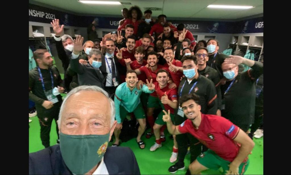 Marcelo Rebelo de Sousa com os sub-21