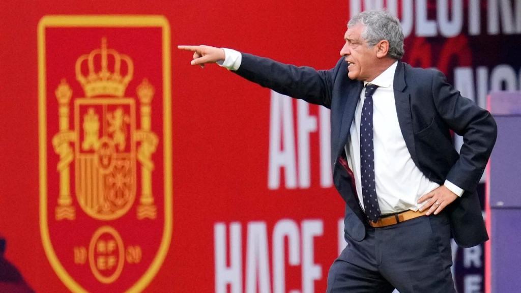 Fernando Santos no Espanha-Portugal (Manu Fernandez/AP)