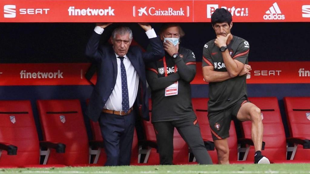 Fernando Santos no Espanha-Portugal (Juanjo Martin/EPA)