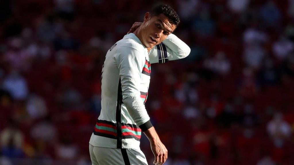 Ronaldo no Espanha-Portugal