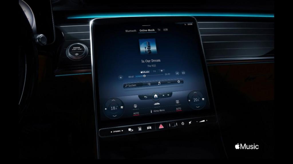 Mercedes com Apple Music