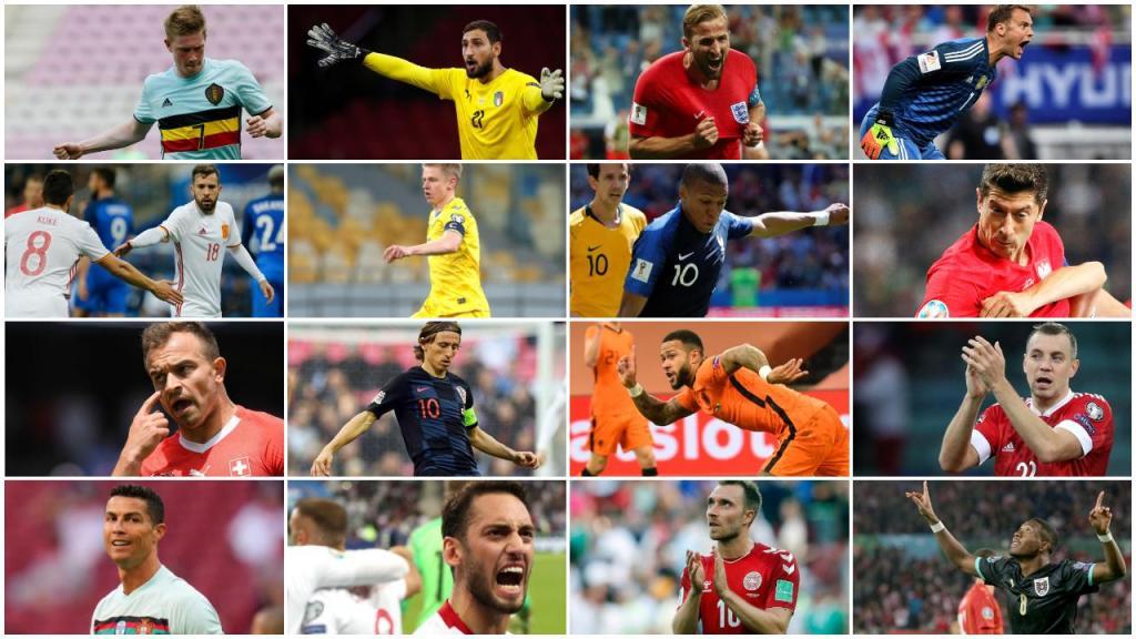 Guia do Euro: todos os jogadores da competição (montagem)