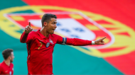 Cristiano Ronaldo festeja o 2-0 no Portugal-Israel (Manuel de Almeida/LUSA)