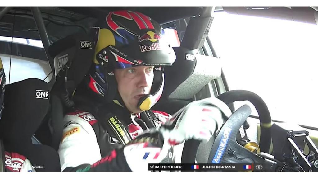 "Sébastien Ogier ""on board"" no Toyota Gazoo Racing (foto: captura vídeo)"