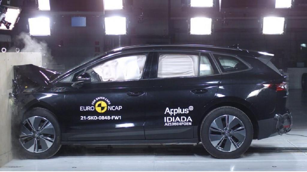 Skoda Enyaq com 5 estrelas EuroNCAP