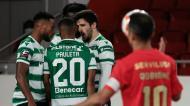 Pany Varela, Pauleta e Tomás Paçô festejam golo no Benfica-Sporting (Manuel de Almeida/LUSA)
