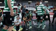 João Matos com a taça de campeão do Sporting (Manuel de Almeida/LUSA)