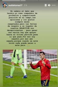 Raul de Tomas defende Morata