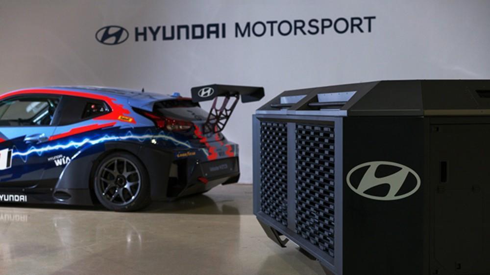 Hyundai Veloster N ETCR e o gerador da HTWO