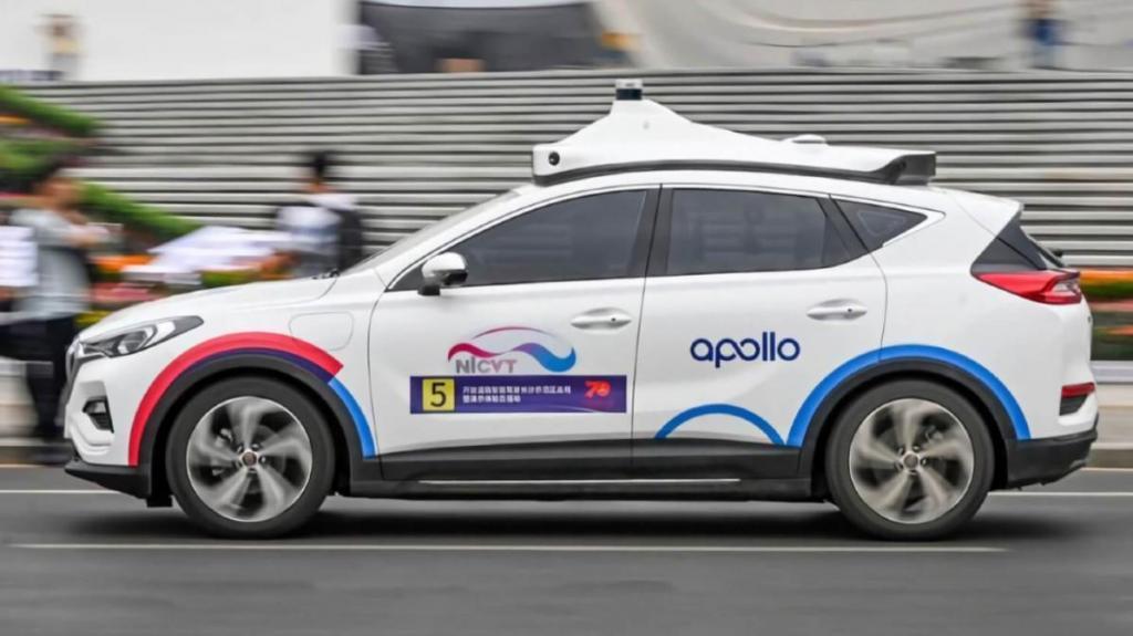 O robotáxi da Baidu/BAIC já está em testes