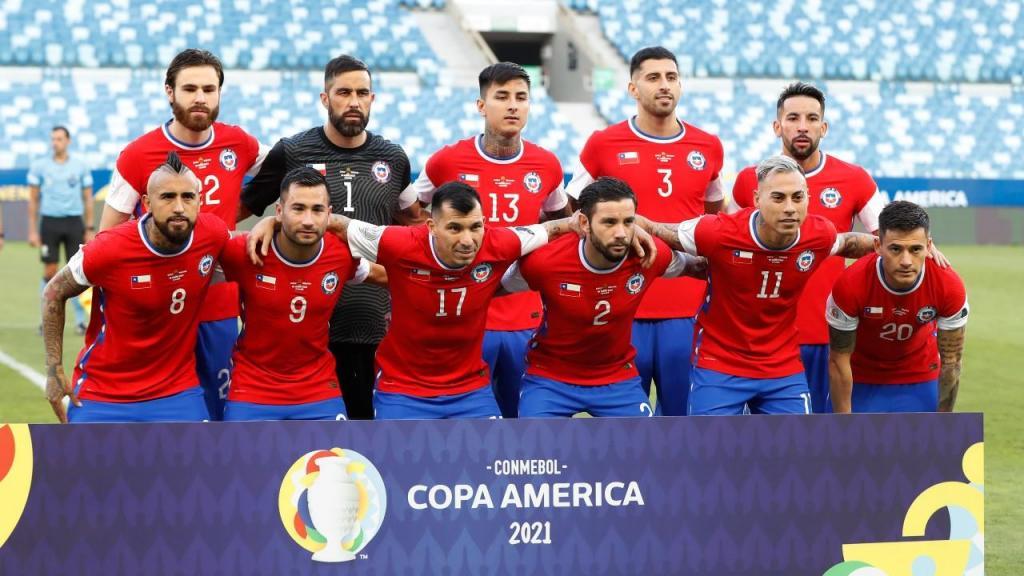 Chile no jogo contra a Bolívia, para a Copa América (AP)
