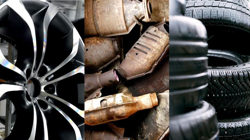 Jantes, catalisadores e pneus