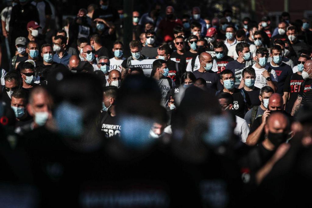 Greve e concentração das forças de segurança
