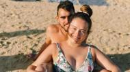 Ricardo Horta com a mulher, na praia (Instagram)