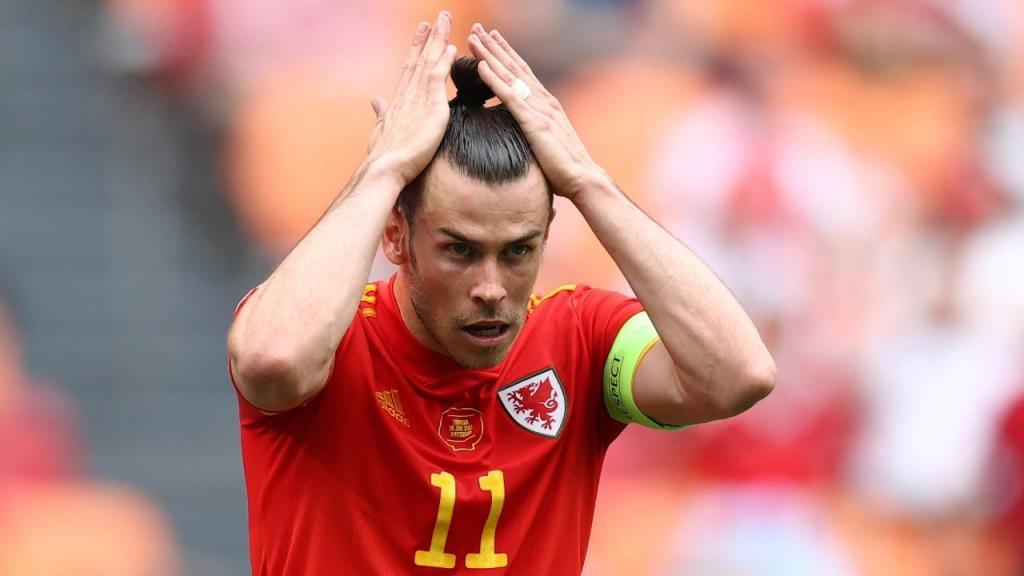 Gareth Bale no País de Gales-Dinamarca (Dean Mouhtaropoulos/AP)