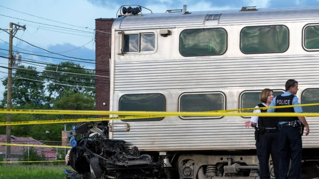 Acidente de comboio em Chicago