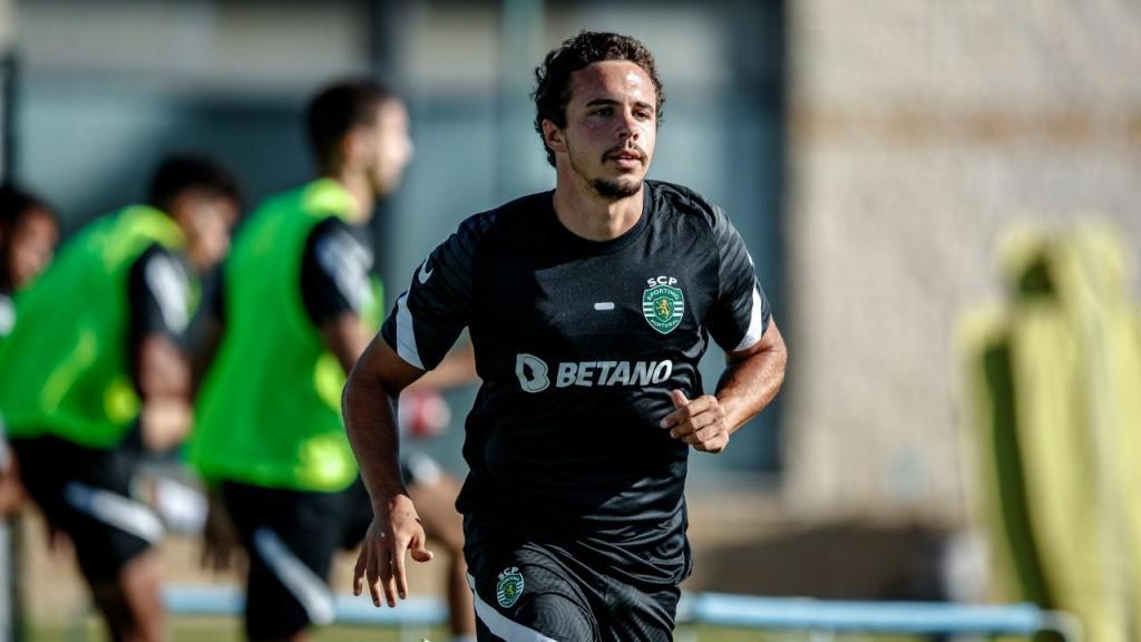 Pedro Marques no primeiro treino da época do Sporting (Sporting CP)