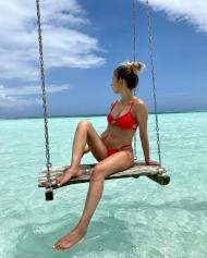 Pedro Gonçaves e a namorada de férias nas Maldivas