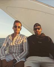 Rafa Silva de férias no Algarve